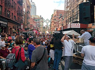 Feast of San Gennaro festival in Little Italy, Manhattan