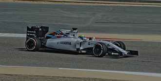 2015 Bahrain Grand Prix - Being unable to start the formation lap, Felipe Massa had to start the race from pit lane.