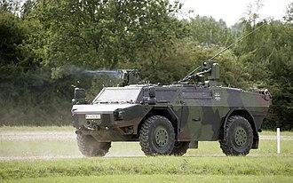 Reconnaissance vehicle - German Army Fennek reconnaissance vehicle
