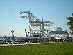 Ferry Landing & Container Cranes (4057827332).jpg