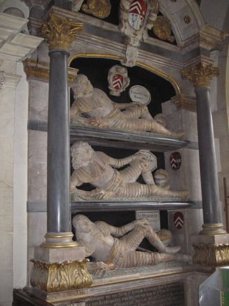 Swinbrook - One of the Fettiplace monuments in St Mary the Virgin parish church