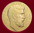 The obverse o the Fields Medal