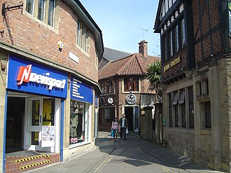 Snickelways of York - Finkle Street, possibly derived from the Germanic word Winkel meaning corner