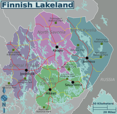 Finnish Lakeland travel map.png