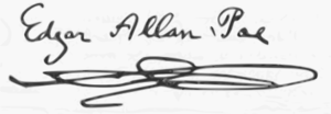 English: the signature of Edgar Allan Poe Espa...