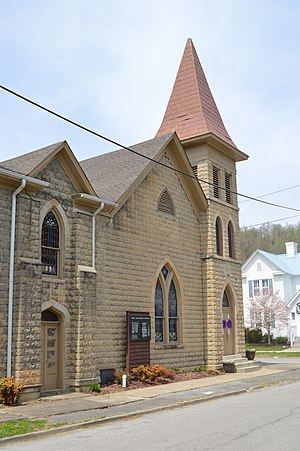 National Register of Historic Places listings in Johnson County, Kentucky - Image: First Baptist Nazarene Church