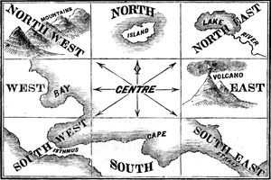 English: Illustration from Lessons in Geography.