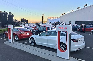 Tesla Model 3 - First production Tesla Model 3 cars ready for the delivery event on July 28, 2017