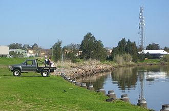 Raymond Terrace -  Local residents fishing in the Hunter and Williams rivers at the same time
