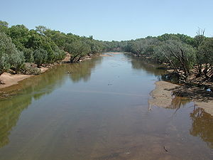 Kimberley (Western Australia) - A channel of the Fitzroy River, near Willare Bridge, dry season 2006