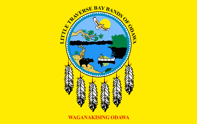 Flag of the Little Traverse Bay Bands of Odawa Indians
