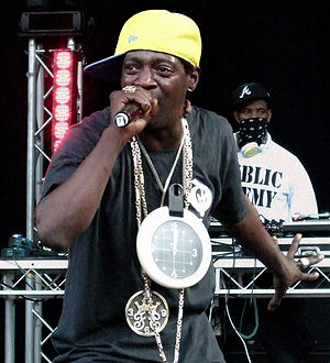 English: Flavor Flav from Public Enemy perform...