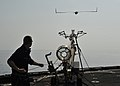Flickr - Official U.S. Navy Imagery - A medical officer launches a Scan Eagle unmanned aerial vehicle..jpg
