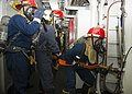Flickr - Official U.S. Navy Imagery - U.S. Navy Sailors fight a simulated fire during a general quarters drill..jpg