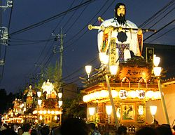 A view of October Sawara Festival, these festival held on July and October