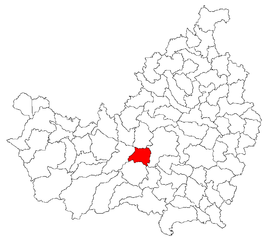 Location in Cluj County