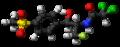 Florfenicol molecule ball.png
