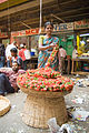 Flower woman at City Market, Bangalore in May 2008.jpg