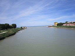 Mouth of the Marecchia in Rivabella! Rimini