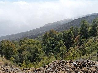 Monte Velha mountain in Cape Verde