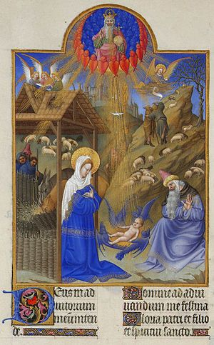 Très Riches Heures du Duc de Berry - The Nativity of Jesus, folio 44v