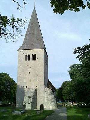 Follingbo Church - The Romanesque tower