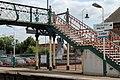 """Footbridge and """"Footplate"""", Flint railway station (geograph 4032017).jpg"""