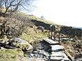 Footbridge and stile on the Dyffryn Mymbyr path - geograph.org.uk - 397502.jpg