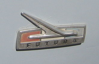 Ford Futura - Logo plaque from 1960s US Futura