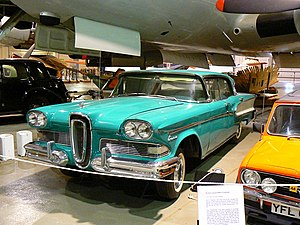 Science Museum at Wroughton - A Ford Edsel at the museum.