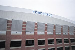 Ford Field - Image: Ford Field exterior