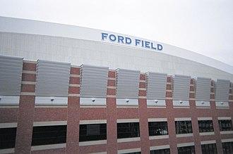 2009–10 NCAA Division I men's ice hockey season - Image: Ford Field exterior