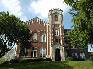 Immaculate Conception Academy (Davenport, Iowa) - Eighth Street facade