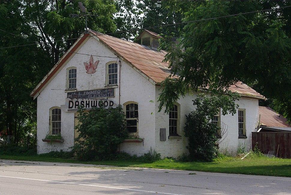Former blacksmith shop in Dashwood, Ontario