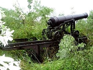 English: This is a photo of a cannon located a...
