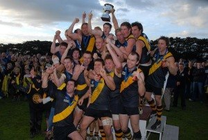 Alberton Football Netball League - Foster after winning the 2010 Alberton Football League grand final.