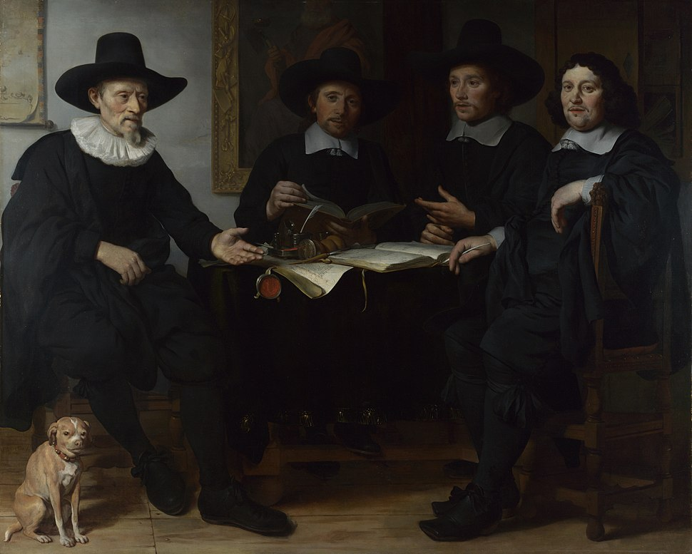 Four officers of the Amsterdam Coopers and wine-rackers Guild