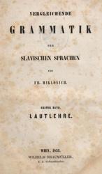 Deutsch: Vergleichende Grammatik der slavischen Sprachen