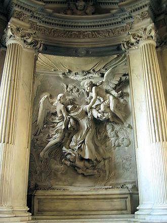 San Pietro in Montorio - Francesco Baratta. Saint Francis in Ecstasy, c. 1640. Raimondi Chapel, San Pietro in Montorio.