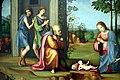Francesco Raibolini detto il Francia, Visione di sant'Agostino, (1510 circa) 02.jpg
