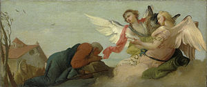 Abraham with the three Angels