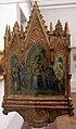 Francesco di vannuccio, crocifissione coi dolenti e madonna in trono, 1370-1400 ca. 01 (siena).JPG