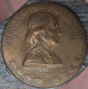 Franklin half dollar - John R. Sinnock's medal of Franklin served as the basis of his obverse for the half dollar.