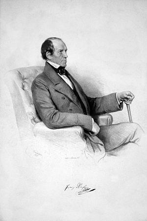 Franz Xaver Riepl - Franz Xaver Riepl, lithograph by Josef Kriehuber (1855)