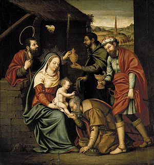 Nicolás Borrás - The Adoration of the Magi by Nicolás Borrás, private collection, 1570s