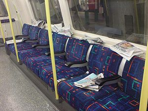 London Lite - Free newspapers left behind by passengers on a London Underground train