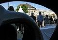 Freigabe des umgestalteten Platzes der Alten Synagoge in Freiburg am 2. August 2017, Blick aus Reclining Figure.jpg