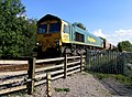 Freightliner approaches level crossing - geograph.org.uk - 279550.jpg