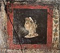 Fresco of a woman in profile, possible portrait bust of Cleopatra VII of Egypt, from the House of the Orchard at Pompeii.jpg