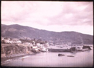Funchal Bay - Funchal Bay, Madeira, by Sarah Angelina Acland, c.1910. View east, including the harbour.